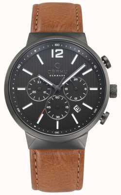Obaku Męski brązowy skórzany zegarek V180GCUURZ