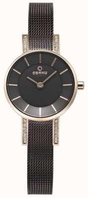 Obaku Womans lykke zegarek z siatki orzecha włoskiego V207LEVNMN