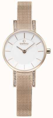 Obaku Womans lykke wzrosła złota oczek zegarek V207LEVIMV