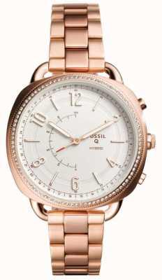 Fossil Q wspolny hybrydowy zegarek Smart Rose w tonie zlota FTW1208