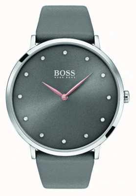 Hugo Boss Womans jillian ogląda szarą skórę 1502413