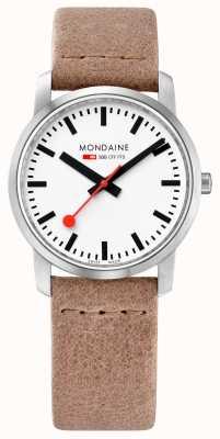 Mondaine Po prostu elegancki, cienki piasek do zegarków A400.30351.16SBG