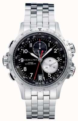 Hamilton Aviation eto chrono ze stali kwarcowej H77612133