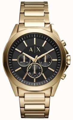 Armani Exchange Chronograf ze stali nierdzewnej z czarną tarczą AX2611
