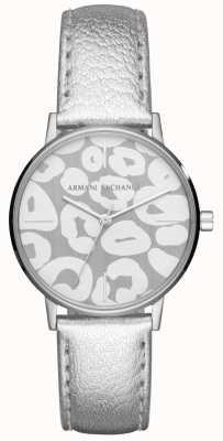 Armani Exchange Damski skórzany pasek lola ze stali nierdzewnej AX5539