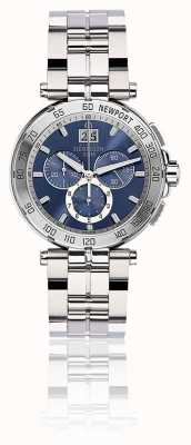 Michel Herbelin Mens newport chronograph bransoleta ze stali nierdzewnej niebieska tarcza 36696/B35