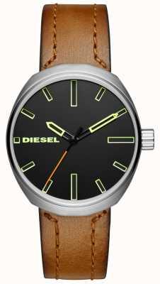 Diesel Męski brązowy skórzany pasek DZ1831