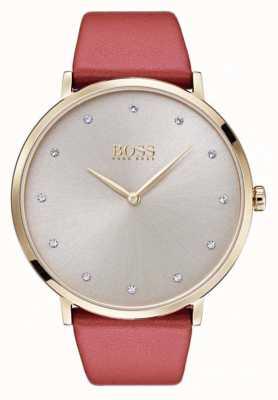 Hugo Boss Womans jillian w złotym odcieniu platerowana opalizującą skórą 1502411