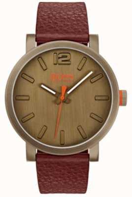 Hugo Boss Orange Męski zegarek bilbao w kolorze brązowym 1550036