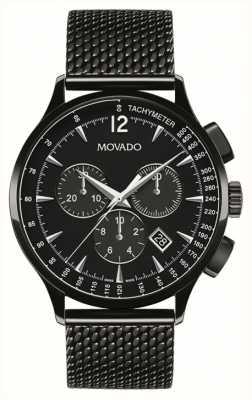 Movado Męskie okrycie chronografem pokryte czarnym jonem 0606804