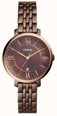Fossil Womans z brązowym, brązowym zegarem ze stali nierdzewnej ES4275