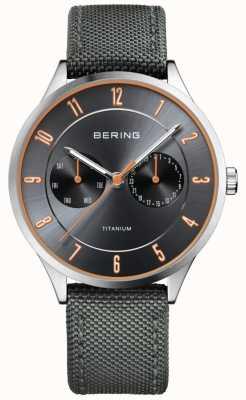 Bering Męski ultra lekki szary nylon tytanowy 11539-879