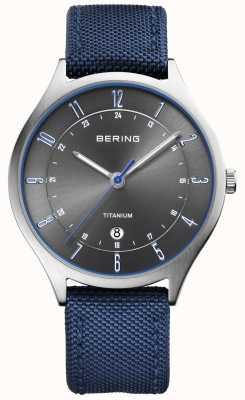 Bering Męskie ultra lekkie tytanowo-nylonowo niebieskie 11739-873