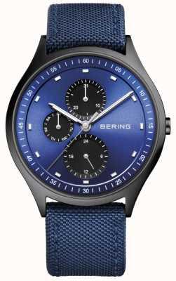 Bering Męski ultralekki tytanowy chronograf nylonowy niebieski 11741-827