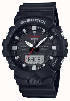 Casio Męski g-shock alarm chrono gumowy pasek czarny GA-800-1AER