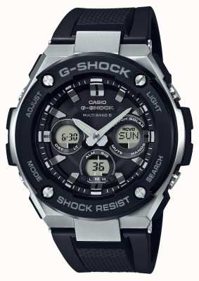 Casio g-shock g steel midsize alarm chrono black GST-W300-1AER
