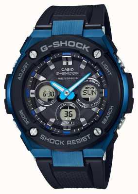 Casio Mężczyzna g-shock g-steel trudny zegarek słoneczny niebieski GST-W300G-1A2ER
