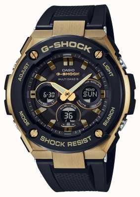 Casio Męskie g-shock ze stali G-steel z wytrzymałym zegarem słonecznym GST-W300G-1A9ER