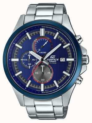 Casio Męski gmach wyścigowy niebieski zegarek chronograf EFV-520RR-2AVUEF