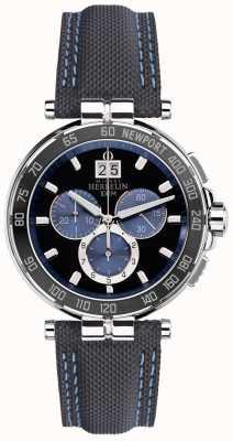 Michel Herbelin Klub jachtowy mężczyzn newport, czarny, niebieski 36656/AN65