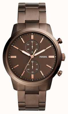 Fossil Męski miejski chronograf brązowy FS5347