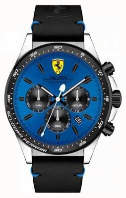 Scuderia Ferrari Zegarek męski niebieski zegarek chronograf 0830388