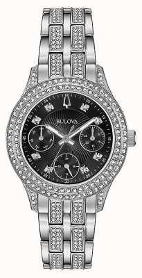 Bulova Damski zegarek z chronografem w czarnym kolorze 96N110