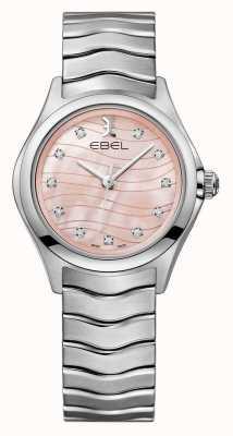 EBEL Damska rombowa rombowa różowa tarcza zegarka 1216268