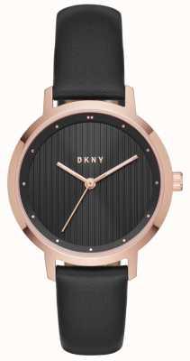 DKNY Womans modernistyczne czarne różowe złoto NY2641