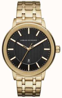 Armani Exchange Męska metalowa bransoleta w odcieniu złota AX1456