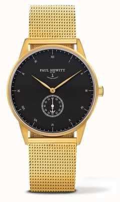 Paul Hewitt Zegarek z podpisem unisex | złota bransoleta ze stali nierdzewnej PH-M1-G-B-4M
