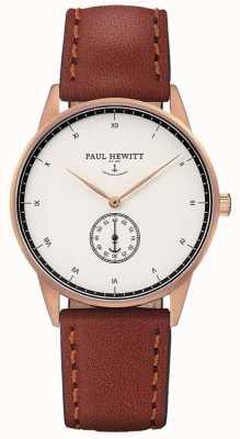 Paul Hewitt Unisex, brązowy skórzany pasek PH-M1-R-W-1M