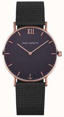 Paul Hewitt Unisex bransoletka żeglarska z czarnej siatki PH-SA-R-ST-B-5M
