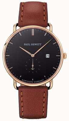 Paul Hewitt Mens wielki atlantycki brązowy skórzany pasek PH-TGA-G-B-1M