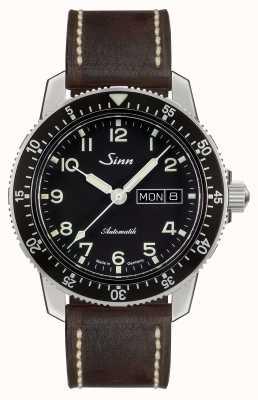 Sinn 104 st sa klasyczny zegarek w stylu vintage z ciemnobrązową skórą 104.011-BL50202002007125401A