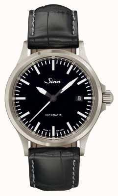 Sinn 556 i sport szafirowe szkło czarne tłoczone ze skóry aligatora 556.010 EMBOSSED LEATHER