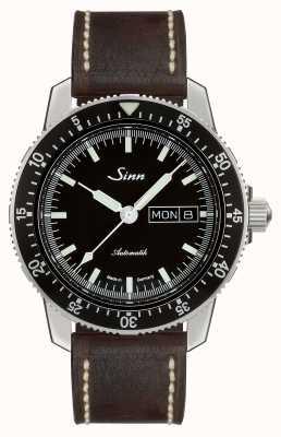 Sinn 104 st sa i klasyczny zegarek pilotowy, ciemnobrązowa skóra w stylu vintage 104.010 BROWN VINTAGE LEATHER