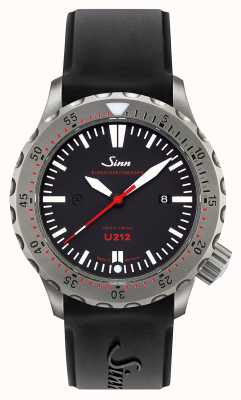 Sinn U212 zegar ezm 16 misji stalowy czarny silikonowy pasek u-Boot 212.040