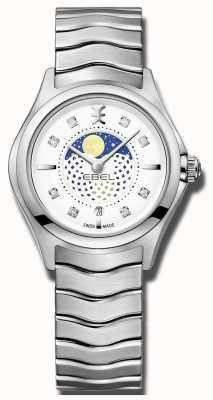 EBEL Zegarek ze stali damasceńskiej ze wzorem fali morskiej 1216372