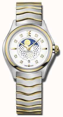 EBEL Damska fala dwubarwna zegarek księżycowy 1216373