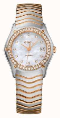 EBEL Damska fala diamentowa zestaw dwóch tonów automatyczny zegarek 1215928