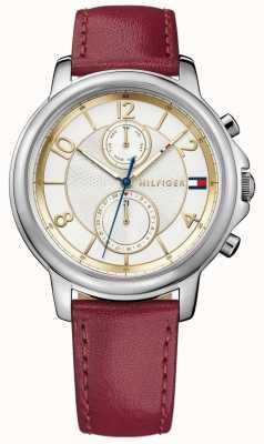 Tommy Hilfiger Damski zegarek skórzany w stylu claudia 1781816