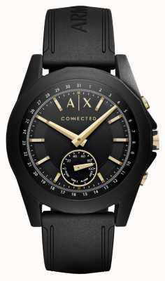 Armani Exchange Męski inteligentny zegarek hybrydowy w kolorze czarnym AXT1004