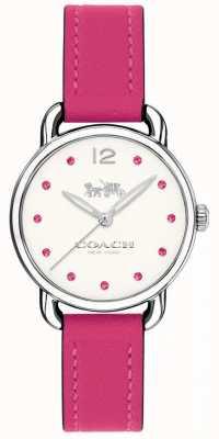 Coach Womans delancey oglądać różowy skórzany pasek 14502906