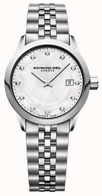 Raymond Weil Freelancer damski tarcza perłowa 5629-ST-97081