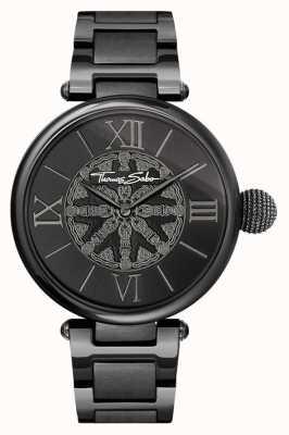 Thomas Sabo Womans karma czarny zegarek ze stali nierdzewnej WA0307-202-203-38