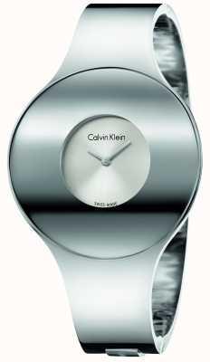Calvin Klein Womans ze srebrnym, stalowym, bezszwowym materiałem do oglądania K8C2M116