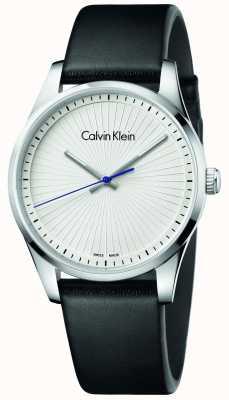 Calvin Klein Unisex zegarek z czarnej skóry K8S211C6