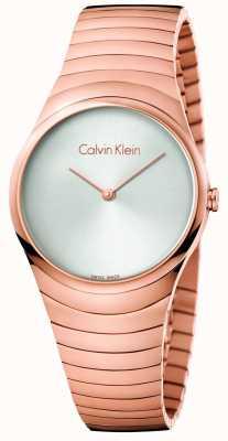 Calvin Klein Womans różowo-złoty zegarek ze stali nierdzewnej K8A23646