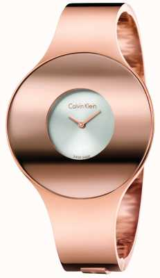 Calvin Klein Womans różowego odcienia złota bezszwowy zegarek mały K8C2S616